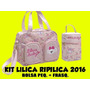 Kit Bolsa Maternidade Lilica Peq. E Frasqueira Flores