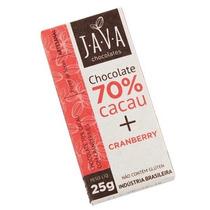 Chocolate 70% Cacau Orgânico Sem Glúten/lactose - Cranberry