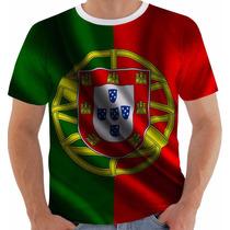Camisa Camiseta Baby Look Regata Bandeira Portugal Modelo 3