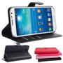 Case Samsung Galaxy J1 Ace Carteira De Couro + Pelicula Top