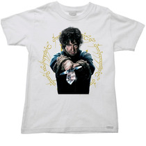 Camiseta Infantil Senhor Sr Anel Aneis Hobbit 07