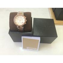 Relógio Feminino Michael Kors Mk5820 Prata Rose Cristais Swa