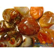 Ágata Marrom Unid. 2cm Pedra Gema Natural Polida P/ Coleção