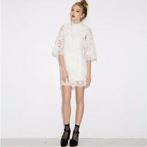Vestido Renda Branco 42 / 44 - Pronta Entrega No Brasil