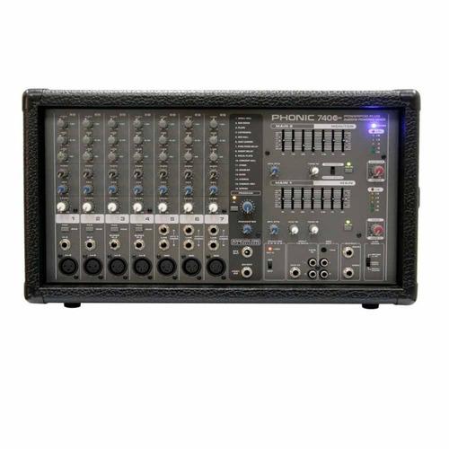 Mixer Amplificado Phonic Powerpod 740 Pt1 440w 4 Mic / line 3