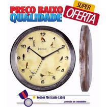 Relógio De Parede Canto Dos Pássaros Herweg 6658 Pt
