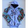 Blusa Moletom Nike Adidas Caveira Florida Floral Feminino