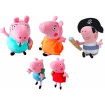 Família Da Peppa Pig Pepa Pig + George Pig Pirata Pepa Pig