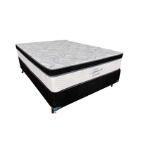 Conjunto Solteiro Colchao E Box Tricot Molas Ensac 88x188x66