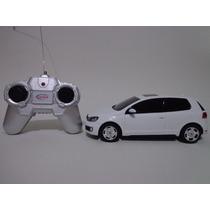 Carro Controle Remoto Volkswagen Golf Gti Branco 1/24 Cks