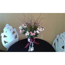Arranjo D Mini Rosas E Vaso Em Vidro Espelhado! Artificiais!