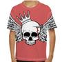 Camiseta Caveira Wings Infantil