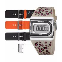 Kit Relógio Mormaii Troca Pulseiras Fzl/8p Garantia E Nf