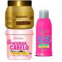 Forever Liss Desmaia Cabelo + Banho De Verniz + Sos 300 Kit