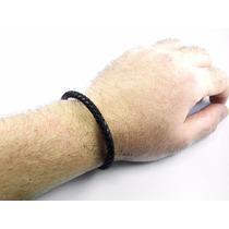 Pulseira/corrente/bracelete/algema Masculina Couro Marzio