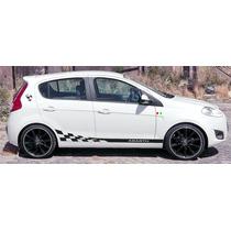 Faixas Laterais Novo Fiat Palio Abarth / Adesivo P Carro