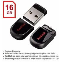 Micro Pen Drive Sandisk Cruzer Fit 16gb Original Frete Justo