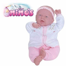 Boneca Ninos Bebê Boca Aberta Branca Com Sons - Cotiplás