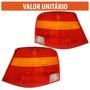 Lanterna Traseira Golf 98 2000 Até 2006 Tricolor C/ Lampada