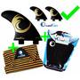 Kit Quilhas Surf + Deck Prancha + Capa Toalha Pranchinha