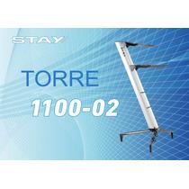 Suporte Stay Torre Aluminio Prata 2 Teclados 1100/2 - Dinhos