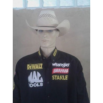 Camisa Rodeio Stanley Dwalt Brahma Wrangler Preta F.gratis