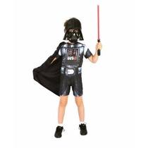 Fantasia Do Darth Vader Curto - Tamanho M - 6 A 8 Anos