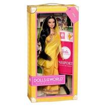 Boneca Do Mundo Mattel Barbie Índia Collector W3322 Novo
