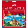 Lápis De Cor 48 Cores Linha Vermelha Faber Castell