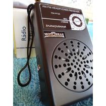 Rádio Portátil Motobras Pequeno Rm Pf26 - Dunguinha