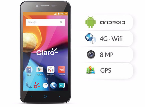 Telefone Cel Zte Blade A460 Desbloq. 4g, Tela 5, 8gb Novo