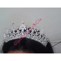 Coroa Tiara Noiva Dama Debutantes Casamento Prateada