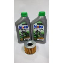Kit Troca Oleo/filtro Kawasaki Ninja 250 Mobil Mx 10w40