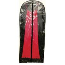 Capa Para Vestido Longo Transparente Com Zíper 150cm X 60cm