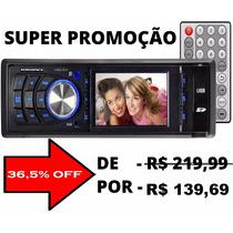 Mp3 Mp5 Automotivo Fm Tela 3 Video No Usb Sd S/ Dvd Controle