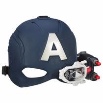 Capacete Capitão America Guerra Civil Visor Lançador Hasbro
