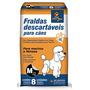 Fralda Descartavel Caes Machos Ou Femeas M 3 A 7 Kg - 8 Un.