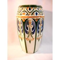 Vaso Em Porcelana Francesa St Clement Original Art Nouveau