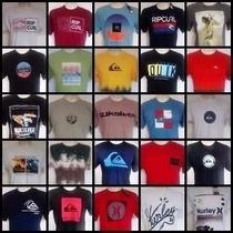 Kit 10 Camisetas Quiksilver - Hurley - Billabong - Oakley