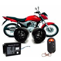Alarme Caixa De Som Mp3 Usb Rádio Fm Cartão Segurança P Moto