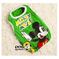 Roupinha Para Cães Mickey Mouse 100% Algodão (frete Grátis)