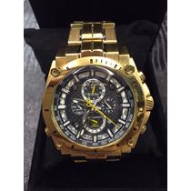Relógio Bulova Dourado Preto Sedex Gratis 12x Sem Juros
