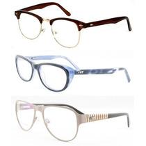 Armação Óculos De Grau Vários Modelos Unissex Frete Grátis