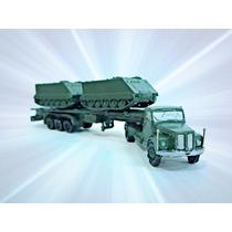Scania 110 Plataforma +2 M113 Exército Ho 1:87 Hbm Frateschi
