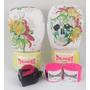 Kit De Boxe Feminino Caveira 12oz - Luva + Bandagem + Bucal