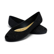 Sapatilhas Feminina Plastico Glitter Flocada I Love Shoes