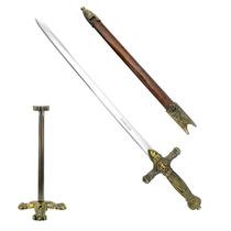 Cavaleiro Medieval - Mini Espada Com Suporte - Mod.fl1341