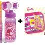 Kit Garrafa Clique Barbie Dream Squeeze + Prato Frete Barato
