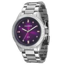 Relógio Mondaine Feminino Glamour 76309l0mfne7 Roxo