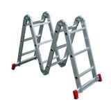 Escada Multifuncional 4x3 Em Alumínio 12 Degraus Rotterman